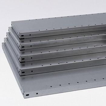 Die Abbildung zeigt die Stahlfachböden verzinkt für Steckregale