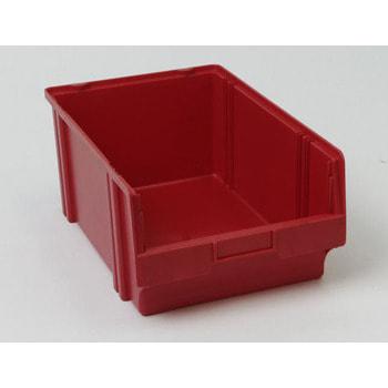 Sichtlagerkasten, Größe 2, 200 x 300 x 500 mm (HxBxT), rot