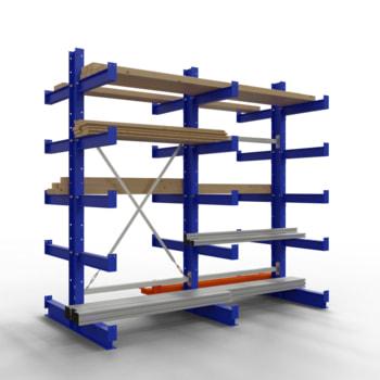 Doppelseitiges Kragarmregal, Schwerlastregal - 2.000 x 1.000 x 500 (HxBxT) - 500 kg