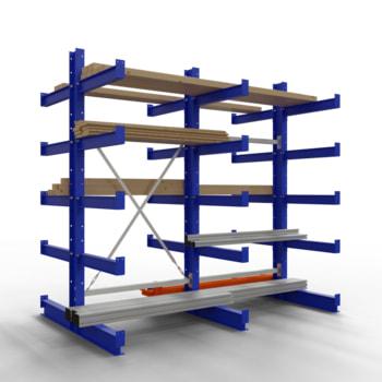 Doppelseitiges Kragarmregal, Schwerlastregal - 2.000 x 1.000 x 600 (HxBxT) - 500 kg