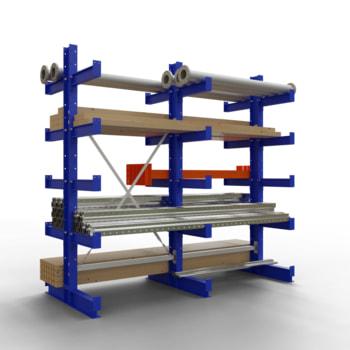 Doppelseitiges Kragarmregal, Schwerlastregal - 2.000 x 1.000 x 400 (HxBxT) - 750 kg