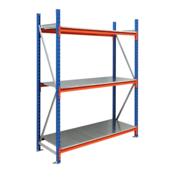Weitspannregal EMMA - 3.000 x 1.850 x 800 mm (HxBxT) - Feldlast 7.500 kg - Stahlböden - Schwerlastregal