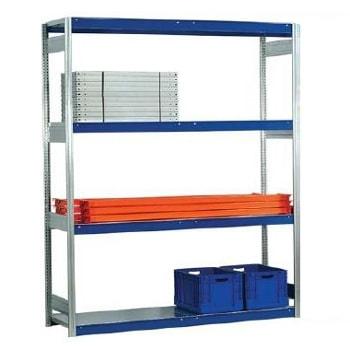 Weitspannregal EMIL - 2.000 x 1.750 x 500 mm (HxBxT) - Fachlast 400 kg - Stahlpaneele - Lagerregal