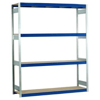 Weitspannregal EMIL - 3.000 x 2.010 x 500 mm (HxBxT) - Fachlast 400 kg - Holzböden - Lagerregal
