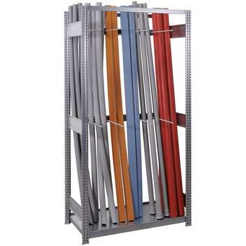 Vertikalregal, Langgutregal, 2.000 x 1.005 x 526 mm (HxBxT), 4 Fächer, erweiterbar, Lagerregal für Rohre, Kabelkanäle, Leitungen, BERT