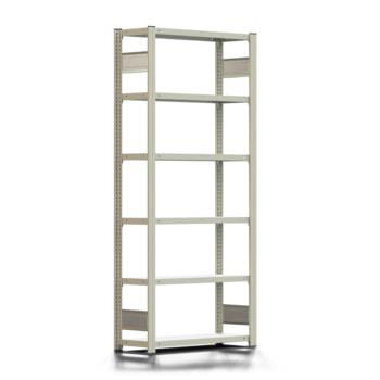 Ordnerregal - Aktenregal - 150 kg - 2.000 x 875 x 300 mm (HxBxT) - erweiterbar - verzinkt - 6 Böden - Steckregal - BERT