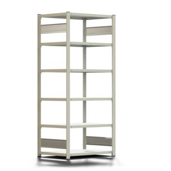 Ordnerregal - Aktenregal - 150 kg - 2.000 x 875 x 600 mm (HxBxT) - erweiterbar - verzinkt - 6 Böden - Steckregal - BERT
