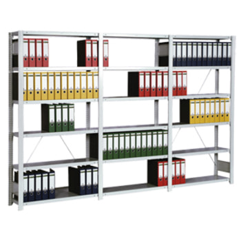 Ordnerregal - Aktenregal - 150 kg - 2.325 x 875 x 300 mm (HxBxT) - erweiterbar - verzinkt - 7 Böden - Steckregal - BERT