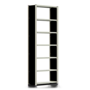 Ordnerregal - Aktenregal mit Seitenwand - 150 kg - 2.325 x 875 x 300 mm (HxBxT) - erweiterbar - verzinkt - 7 Böden - Steckregal - BERT