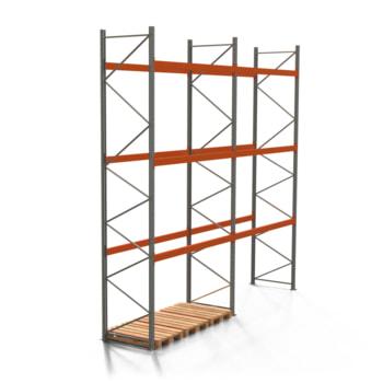 Palettenregal ARTUS - 3 Ebenen - Fachlast 3.000 kg - Höhe 5.500 mm - 2.700 x 1.100 mm (BxT) - Schwerlastregal - Anzahl Felder wählbar