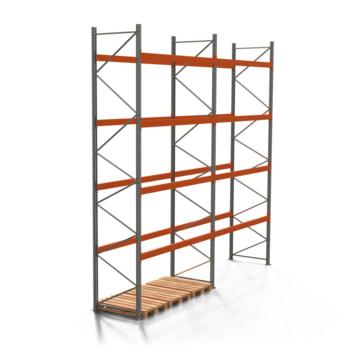 Palettenregal ARTUS - 4 Ebenen - Höhe 5.500 mm - 2.700 x 1.100 mm (BxT) - Schwerlastregal - Anzahl Felder wählbar