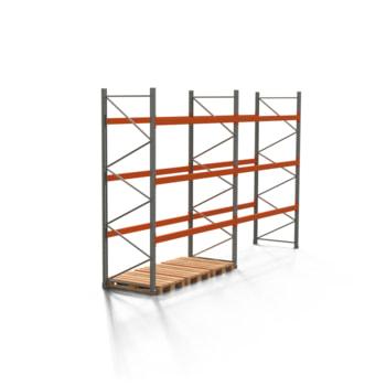 Palettenregal ARTUS - 3 Ebenen - Fachlast 2.000 kg - Höhe 3.500 mm - 2.700 x 1.100 mm (BxT) - Schwerlastregal - Anzahl Felder wählbar