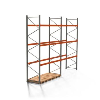 Palettenregal ARTUS - 3 Ebenen - Fachlast 2.000 kg - Höhe 4.500 mm - 2.700 x 1.100 mm (BxT) - Schwerlastregal - Anzahl Felder wählbar
