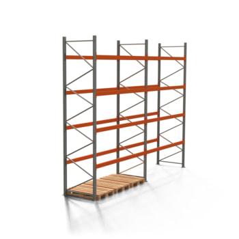 Palettenregal ARTUS - 4 Ebenen - Fachlast 2.000 kg - Höhe 4.500 mm - 2.700 x 1.100 mm (BxT) - Schwerlastregal - Anzahl Felder wählbar