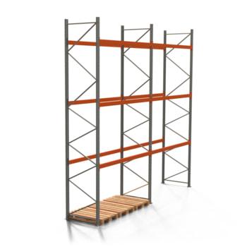 Palettenregal ARTUS - 3 Ebenen - Fachlast 2.000 kg - Höhe 5.500 mm - 2.700 x 1.100 mm (BxT) - Schwerlastregal - Anzahl Felder wählbar