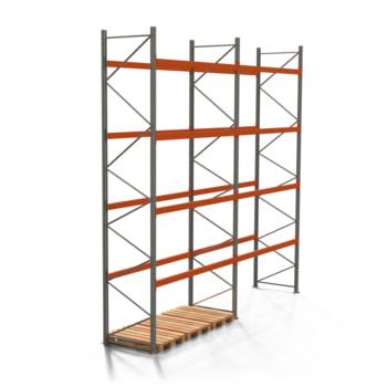 Palettenregal ARTUS - 4 Ebenen - Fachlast 2.000 kg - Höhe 5.500 mm - 2.700 x 1.100 mm (BxT) - Schwerlastregal - Anzahl Felder wählbar