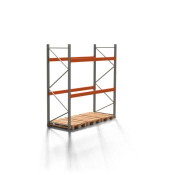 Palettenregal ARTUS - 2 Ebenen - Fachlast 3.000 kg - 3.000 x 2.700 x 1.100 mm (HxBxT) - Schwerlastregal