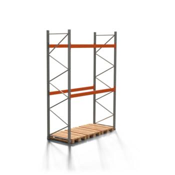 Palettenregal ARTUS - 2 Ebenen - Fachlast 3.000 kg - 4.000 x 2.700 x 1.100 mm (HxBxT) - Schwerlastregal