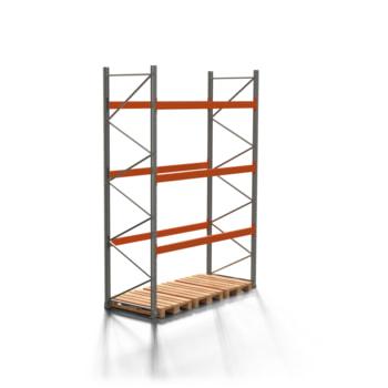 Palettenregal ARTUS - 3 Ebenen - Fachlast 3.000 kg - 4.000 x 2.700 x 1.100 mm (HxBxT) - Schwerlastregal