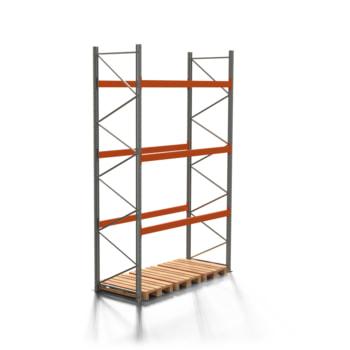 Palettenregal ARTUS - 3 Ebenen - Fachlast 3.000 kg - 4.500 x 2.700 x 1.100 mm (HxBxT) - Schwerlastregal