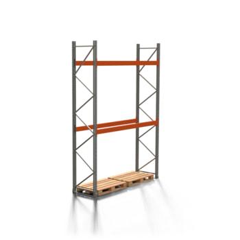 Palettenregal ARTUS - 2 Ebenen - Fachlast 3.000 kg - 4.000 x 2.700 x 800 mm (HxBxT) - Schwerlastregal