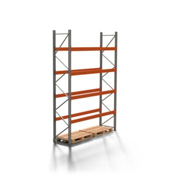 Palettenregal ARTUS - 4 Ebenen - Fachlast 2.700 kg - 4.000 x 2.700 x 800 mm (HxBxT) - Schwerlastregal