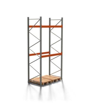 Palettenregal ARTUS - 2 Ebenen - Fachlast 3.000 kg - 4.000 x 1.900 x 1.100 mm (HxBxT) - Schwerlastregal