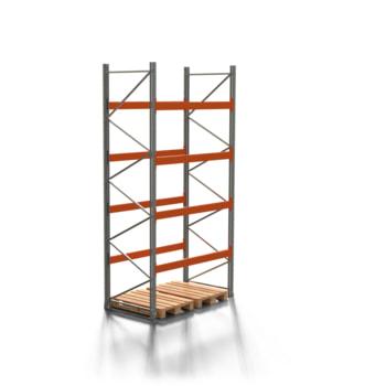 Palettenregal ARTUS - 4 Ebenen - Fachlast 3.000 kg - 4.000 x 1.900 x 1.100 mm (HxBxT) - Schwerlastregal