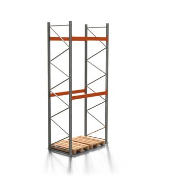 Palettenregal ARTUS - 2 Ebenen - Fachlast 3.000 kg - 4.500 x 1.900 x 1.100 mm (HxBxT) - Schwerlastregal