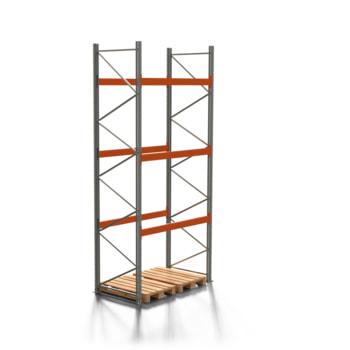 Palettenregal ARTUS - 3 Ebenen - Fachlast 3.000 kg - 4.500 x 1.900 x 1.100 mm (HxBxT) - Schwerlastregal