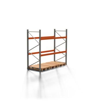 Palettenregal ARTUS - 2 Ebenen - Fachlast 2.000 kg - 2.500 x 2.700 x 1.100 mm (HxBxT) - Schwerlastregal