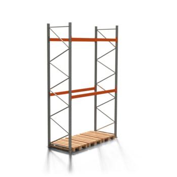 Palettenregal ARTUS - 2 Ebenen - Fachlast 2.000 kg - 4.500 x 2.700 x 1.100 mm (HxBxT) - Schwerlastregal