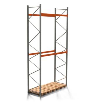 Palettenregal ARTUS - 2 Ebenen - Fachlast 2.000 kg - 5.500 x 2.700 x 1.100 mm (HxBxT) - Schwerlastregal