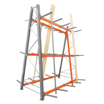 Doppelseitiges Vertikalregal ARTUS - Vertikallast 1.200 kg - 3.500 x 2.700 x 1.335 mm (HxBxT) - Profillagerregal