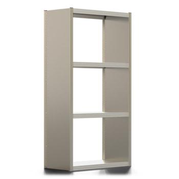 Umweltregal, Kleingebinderegal, Seitenwand, Auffangwanne 210 Liter, 2.500 x 1.285 x 800 mm (HxBxT), 4 Ebenen, erweiterbar, Steckregal BERT