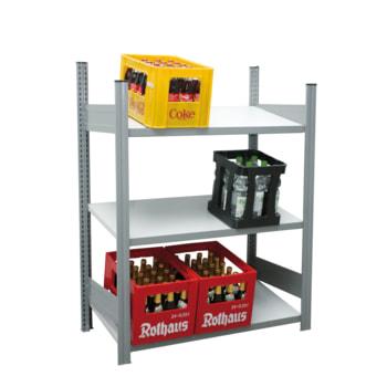Getränkekistenregal - 150 kg - 1.330 x 976 x 500 mm (HxBxT) - 3 Schrägböden Span - BERT