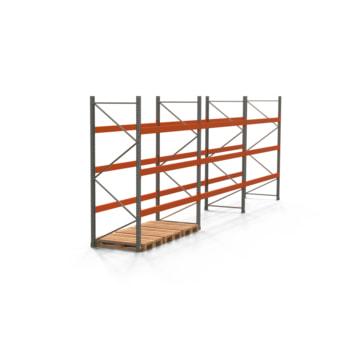 Palettenregal ARTUS - Regalreihe, 3 Felder - Fachlast 3.000 kg - Feldlast 9.000 kg - 3.000 x 8.440 x 1.100 mm (HxBxT) - Schwerlastregal