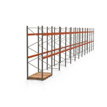 Palettenregal ARTUS - Regalreihe mit 12 Feldern - Fachlast 3.000 kg - 3.500 x 23.905 x 1.100 mm (HxBxT) - Schwerlastregal
