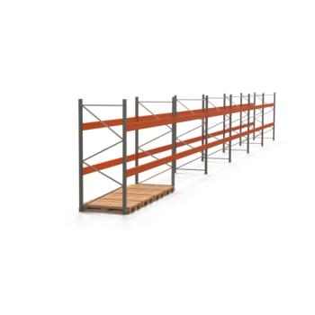 Palettenregal ARTUS - Regalreihe mit 6 Feldern - Fachlast 4.000 kg - 2.500 x 22.195 x 1.100 mm (HxBxT) - Schwerlastregal