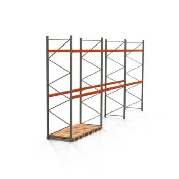 Palettenregal ARTUS - Regalreihe mit 3 Feldern - Fachlast 2.000 kg - 4.000 x 8.440 x 1.100 mm (HxBxT) - Schwerlastregal