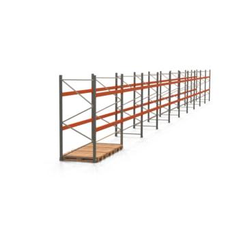 Palettenregal ARTUS - Regalreihe mit 10 Feldern - Fachlast 2.000 kg - 2.500 x 27.935 x 1.100 mm (HxBxT) - Schwerlastregal