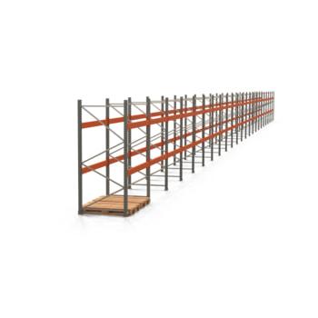 Palettenregal ARTUS - Regalreihe mit 23 Feldern - Fachlast 3.000 kg - 2.500 x 45.740 x 1.100 mm (HxBxT) - Schwerlastregal