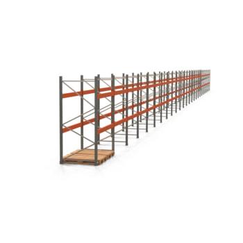 Palettenregal ARTUS - Regalreihe mit 25 Feldern - Fachlast 3.000 kg - 2.500 x 49.710 x 1.100 mm (HxBxT) - Schwerlastregal