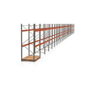 Palettenregal ARTUS - Regalreihe mit 25 Feldern - Fachlast 3.000 kg - 3.000 x 49.710 x 1.100 mm (HxBxT) - Schwerlastregal