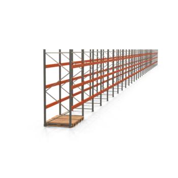 Palettenregal ARTUS - Regalreihe, 31 Felder - Fachlast 3.000 kg - Feldlast 9.000 kg - 3.000 x 61.620 x 1.100 mm (HxBxT) - Schwerlastregal