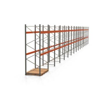 Palettenregal ARTUS - Regalreihe mit 16 Feldern - Fachlast 3.000 kg - 3.500 x 31.845 x 1.100 mm (HxBxT) - Schwerlastregal