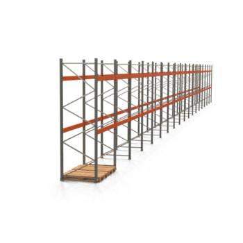 Palettenregal ARTUS - Regalreihe mit 18 Feldern - Fachlast 3.000 kg - 3.500 x 35.815 x 1.100 mm (HxBxT) - Schwerlastregal
