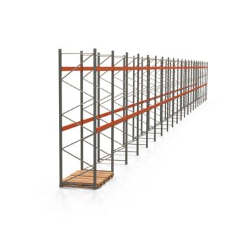 Palettenregal ARTUS - Regalreihe mit 21 Feldern - Fachlast 3.000 kg - 4.000 x 41.770 x 1.100 mm (HxBxT) - Schwerlastregal