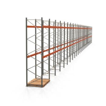 Palettenregal ARTUS - Regalreihe mit 26 Feldern - Fachlast 6.000 kg - 4.500 x 51.695 x 1.100 mm (HxBxT) - Schwerlastregal