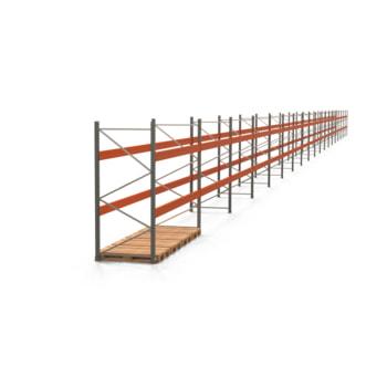 Palettenregal ARTUS - Regalreihe mit 19 Feldern - Fachlast 4.000 kg - 2.500 x 70.100 x 1.100 mm (HxBxT) - Schwerlastregal